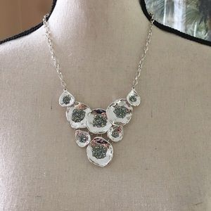 Bib Style Necklace with Sparkle Center